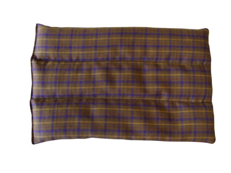 Brown Tartan Back Heat Pad