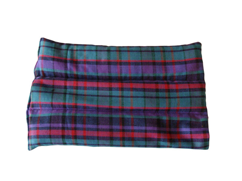 Purple Tartan Back Heat Pad