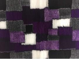 PnH Veterinary Bedding - NON SLIP - RECTANGLE - Purple Patchwork