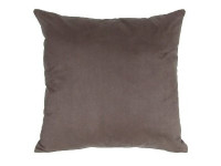 Brown Faux Suede Cushion - 45cm x 45cm - COMPLETE WITH HOLLOW FIBRE FILLED INNER