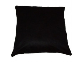 Black Faux Suede Scatter Cushion - 45cm x 45cm. COMPLETE WITH HOLLOW FIBRE FILLED INNER
