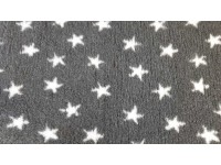PnH Veterinary Bedding - NON SLIP - By The Roll - Charcoal with White Stars