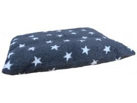 Grey with White Stars - Sherpa Fleece Dog Bed Cushion