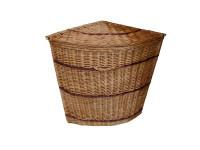 Corner Wicker Laundry Basket