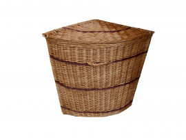 Corner Wicker Laundry Basket