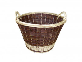 Round Wicker Log Basket