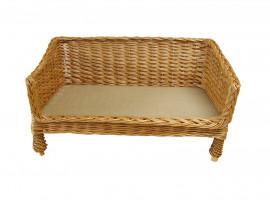 Medium Sofa Style Wicker Pet Basket (70cm)