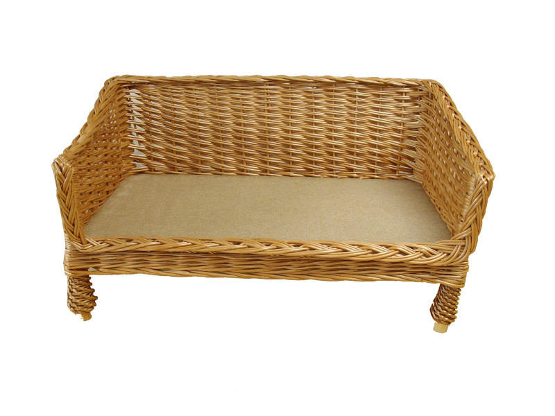 Small Sofa Style Wicker Pet Basket (60cm)
