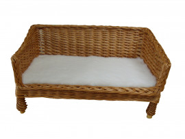 Medium Sofa Style Wicker Pet Basket (70cm) Complete With Fitted PnH Veterinary Bedding®