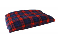Red Tartan - Sherpa Fleece Dog Bed Cushion