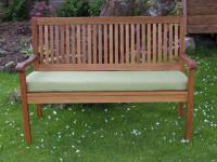 Garden Bench Cushion - Apple Green Faux Suede
