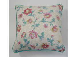 Pink Flower Cushion - 37cm x 37cm - COMPLETE WITH HOLLOW FIBRE FILLED INNER