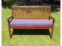 Garden Bench Cushion - Purple Tartan