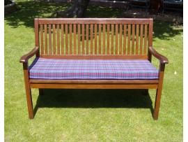 Garden Bench Cushion - Purple Tartan