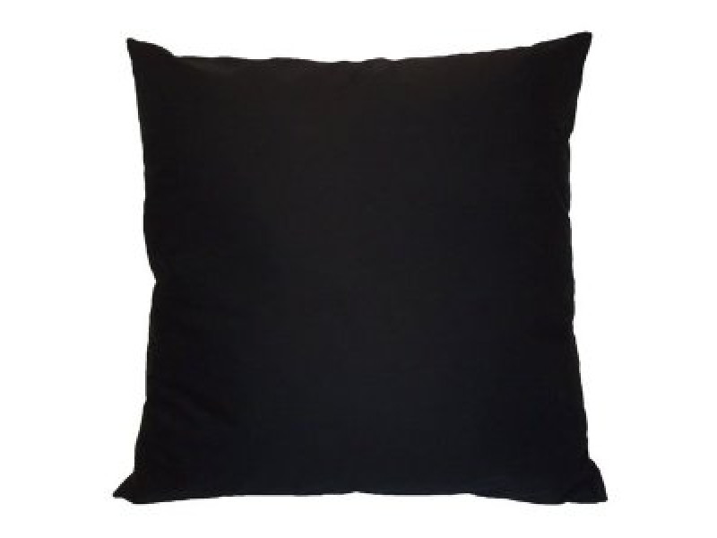 Black - Heavy Duty Cotton Cushion (Large 65cm x 65cm) - COMPLETE WITH HOLLOW FIBRE FILLED INNER