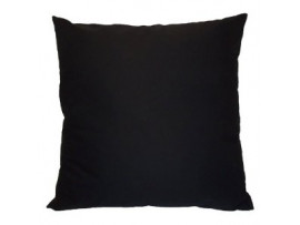 Black - Heavy Duty Cotton Cushion (45cm x 45cm) - COMPLETE WITH HOLLOW FIBRE FILLED INNER