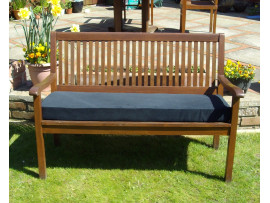 Garden Bench Cushion - Black Cord