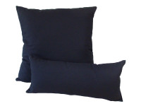 Black Cotton - Cushion & Bolster Set