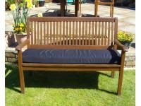 Garden Bench Cushion - Black SHOWERPROOF
