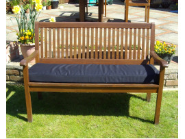 Garden Bench Cushion - Black SHOWERPROOF