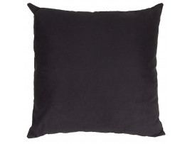 Black Faux Suede Cushion (Large 65cm x 65cm) - COMPLETE WITH HOLLOW FIBRE FILLED INNER