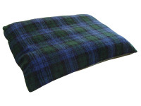 Fleece Dog Bed Cushion With Waterproof Base - Blackwatch Tartan
