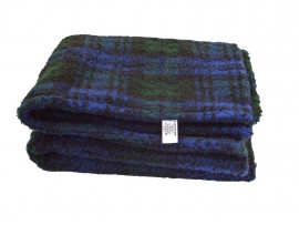 Blackwatch Tartan Sherpa Fleece Dog Blanket  DOUBLE LAYERS FOR EXTRA COMFORT