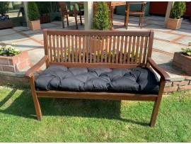 Blown Fibre Garden Bench Cushion - Black
