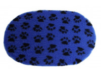 PnH Veterinary Bedding - NON SLIP - OVAL - Blue Paws