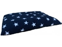 Midnight Blue with White Stars - Sherpa Fleece Dog Bed Cushion