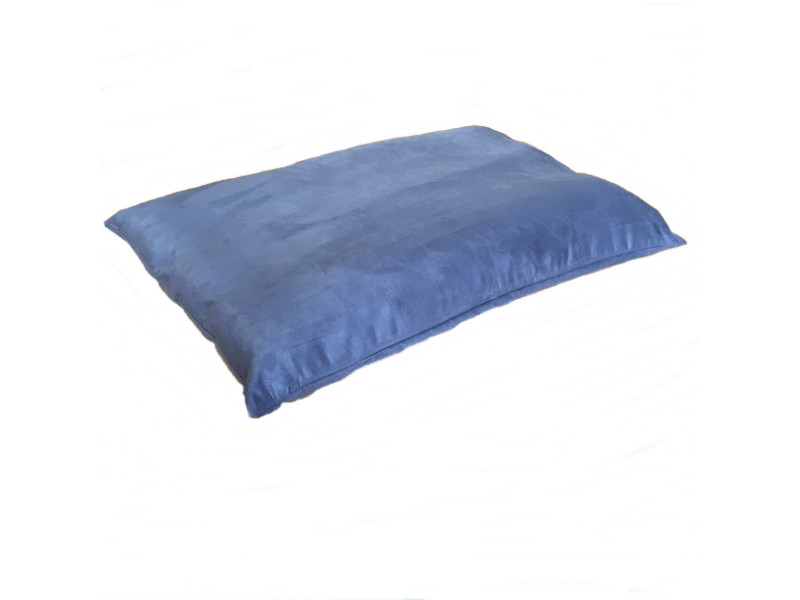 Faux Suede Dog Bed Cushion - Blue