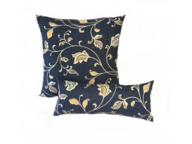 Blue Multi Leaf - Cushion & Bolster Set