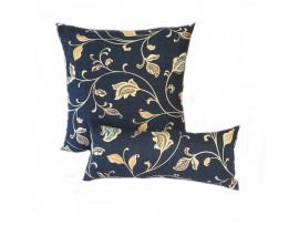 Blue Multi Leaf - Cushion & Bolster Set