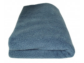 Deluxe Sherpa Fleece Lap Blanket - DOUBLE LAYERED - Blue
