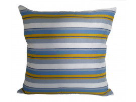 Blue Striped Cushion - Large 65cm x 65cm - COMPLETE WITH HOLLOW FIBRE FILLED INNER