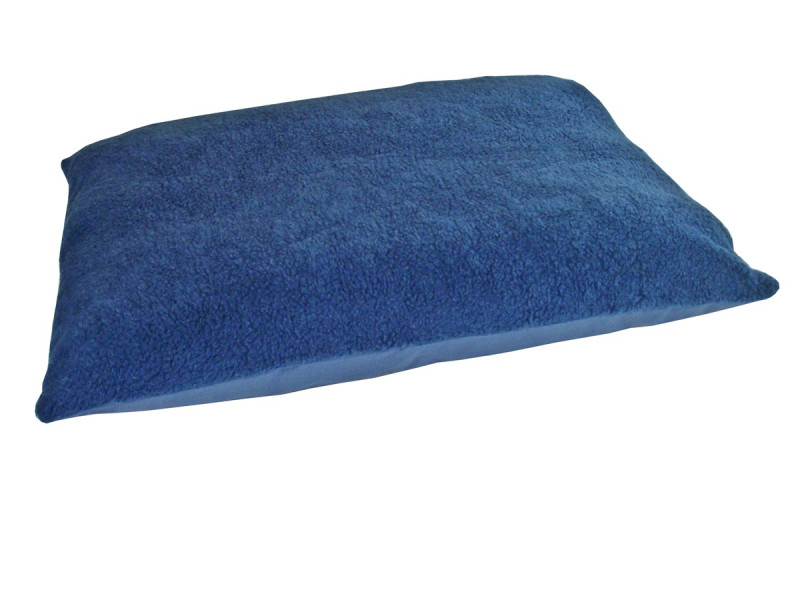 Fleece Dog Bed Cushion With Waterproof Base - Harbour Blue