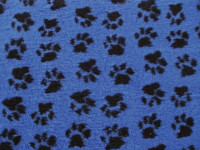 PnH Veterinary Bedding - NON SLIP - EXTRA LARGE RECTANGLE 150cm x 100cm - Blue Paws