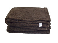 Brown Sherpa Fleece Dog Blanket  DOUBLE LAYERS FOR EXTRA COMFORT