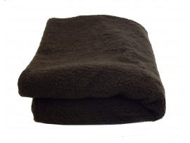 Deluxe Sherpa Fleece Lap Blanket - DOUBLE LAYERED - Brown