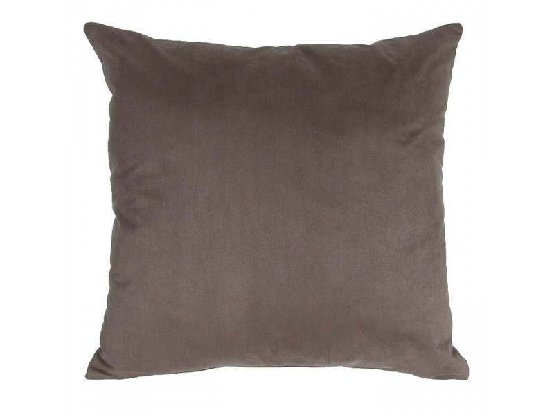 Brown Faux Suede Cushion (Large 65cm x 65cm) - COMPLETE WITH HOLLOW FIBRE FILLED INNER