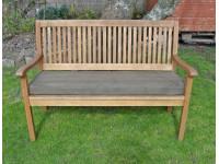 Garden Bench Cushion - Brown Faux Suede
