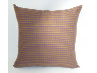 Brown Tartan Design Scatter Cushion - 45cm x 45cm - COMPLETE WITH HOLLOW FIBRE FILLED INNER