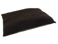 Fleece Dog Bed Cushion With Waterproof Base - Brown