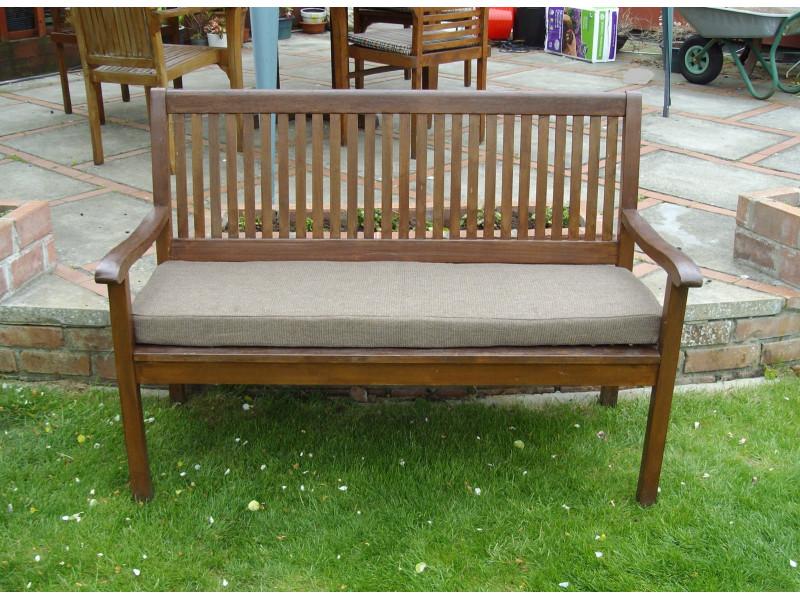 Garden Bench Cushion - Brown Weave