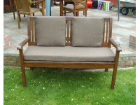 Garden Bench Cushion Set Including Back Pads - Brown Weave