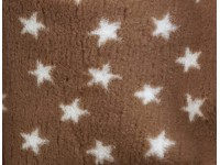PnH Veterinary Bedding - NON SLIP - By The Roll - Brown with White Stars