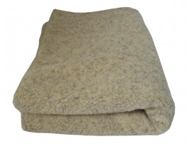 Deluxe Sherpa Fleece Lap Blanket - DOUBLE LAYERED - Cashmere Colour