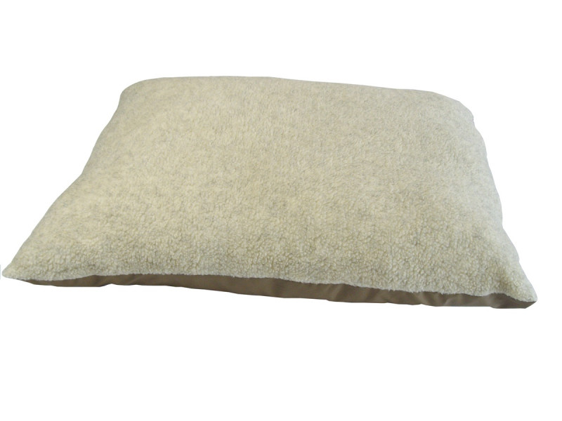Fleece Dog Bed Cushion With Waterproof Base - Cashmere Cream
