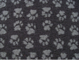 PnH Veterinary Bedding - NON SLIP - RECTANGLE - Charcoal with Grey Paws
