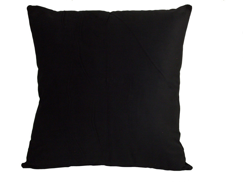 Black Corduroy Cushion (Large 65cm x 65cm) - COMPLETE WITH HOLLOW FIBRE FILLED INNER